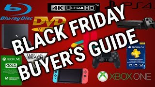 Black Friday 2018 4K UHD/Blu-ray/DVD & Video Game Buying Guides
