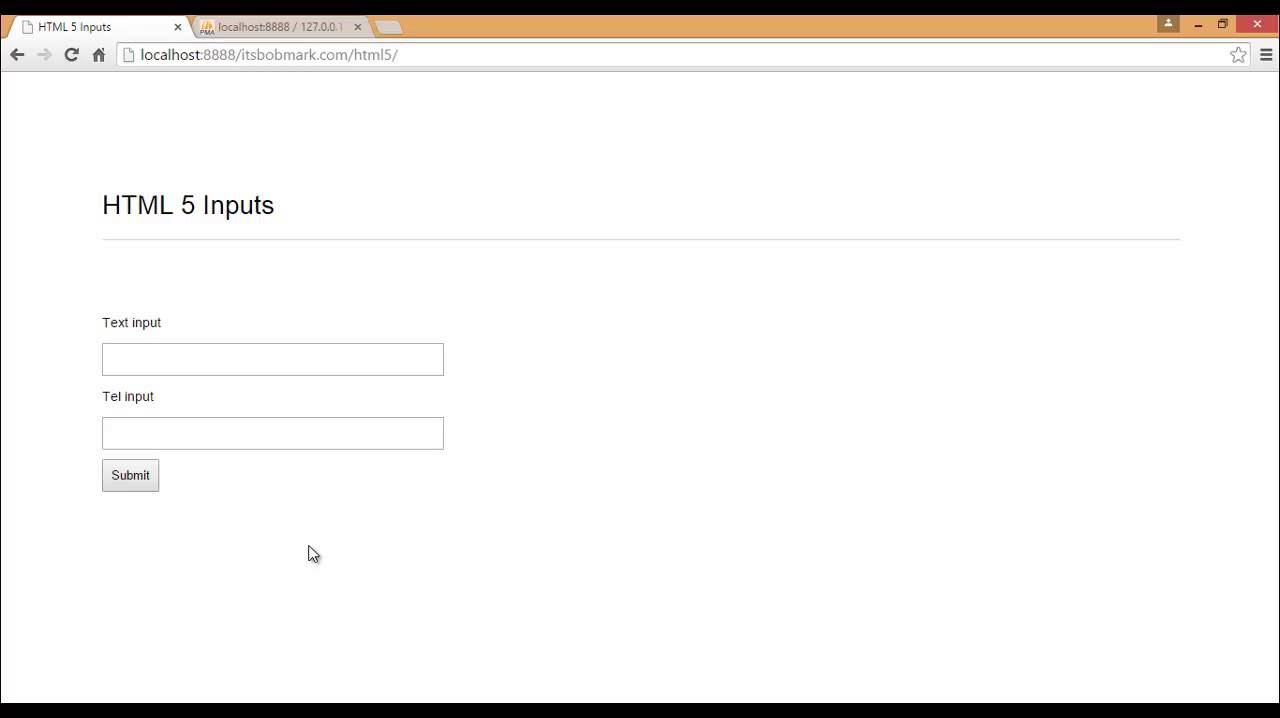 Input tel html5