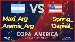 ARGENTINA VS ESTADOS UNIDOS CUARTOS DE FINAL COPA AMERICA AGE OF EMPIRES 2