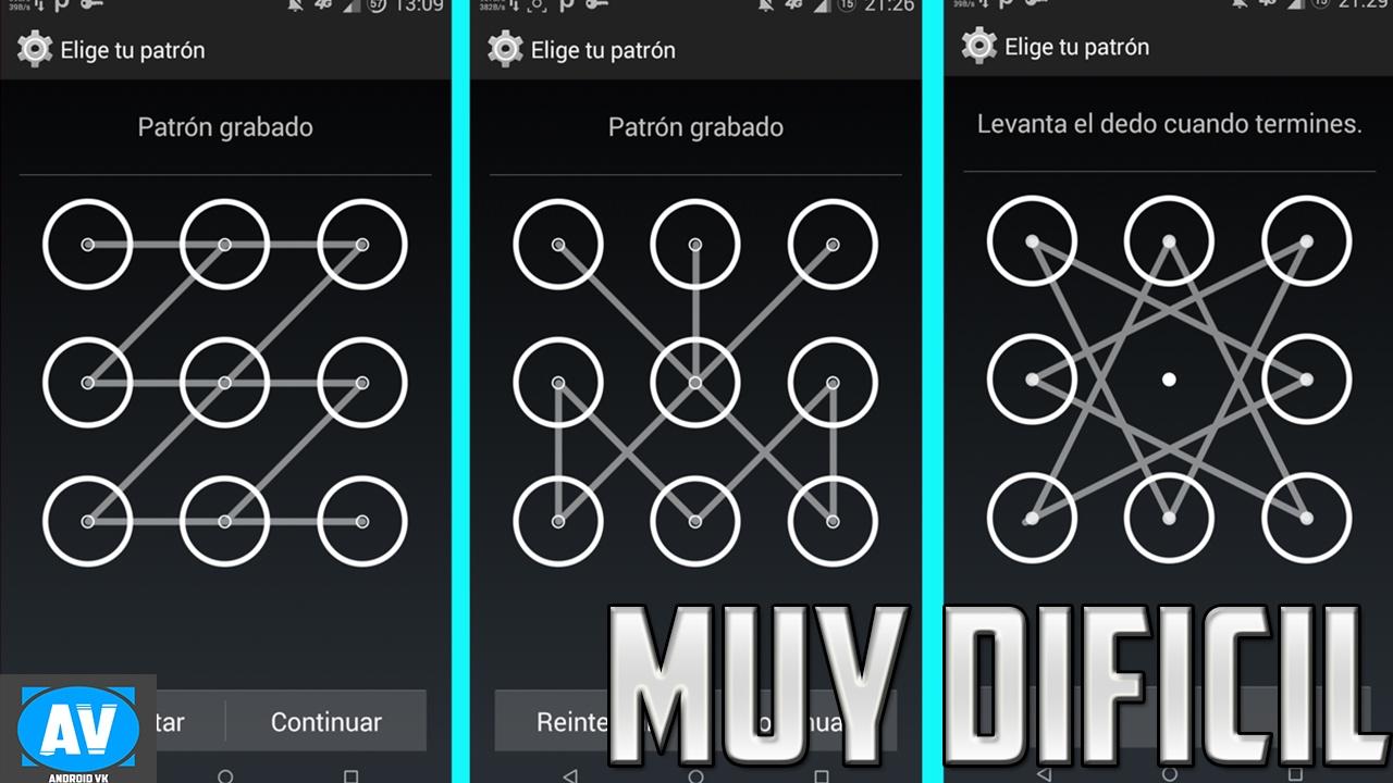 Los patrones mas difíciles para android ! Protege tu móvil (parte 2 ...