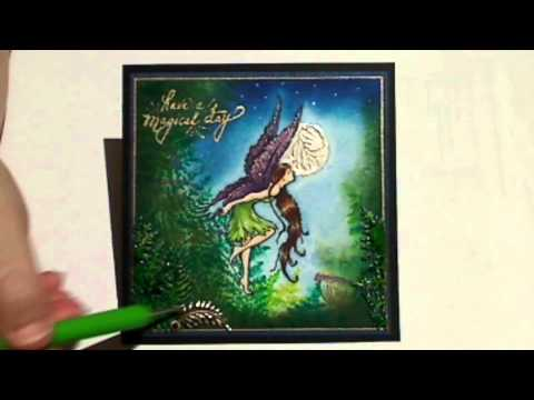 Moonlight Faerie using Lindys Stamp Gang Stamps