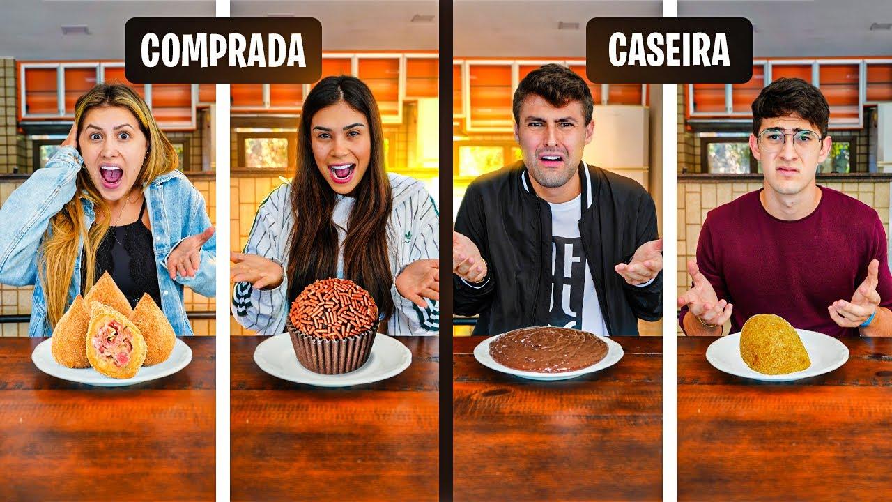 COMIDA CASEIRA VS COMIDA COMPRADA!! ( NOVO MINI GAME ) [REZENDE EVIL ]