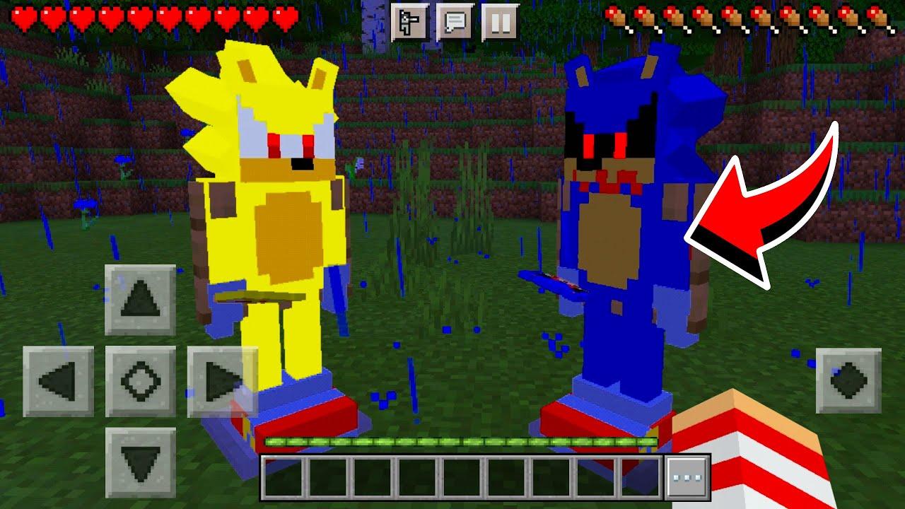CRIEI UM NOVO ADDONS/MOD DO SONIC.EXE, SUPER SONIC NO MINECRAFT PE  Minecraft Pocket Edition