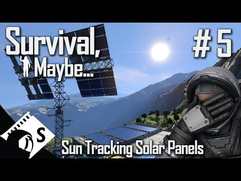 Survival, Maybe... #5 Finishing a Sun Tracking Solar Panel (A Space Engineers Survival Series)