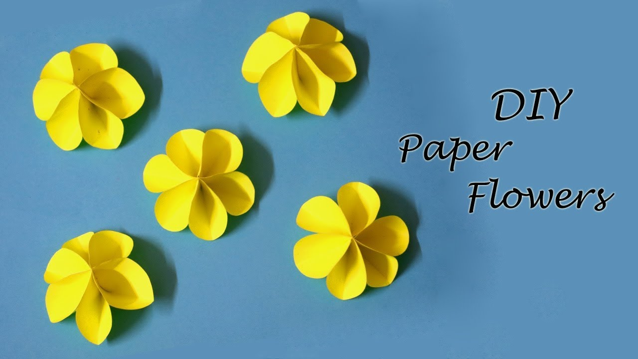 Diy Paper Flowers Easy Paper Craft Ideas For Kids Little Crafties Youtube