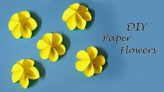 DIY Paper Flowers | Easy Paper Craft Ideas for Kids | Little Crafties