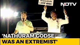 """Nathuram Godse, A Hindu, Independent India's 1st Extremist"": Kamal Haasan"