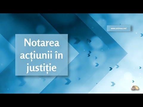 Registrele: Notarea acțiunii în justiție