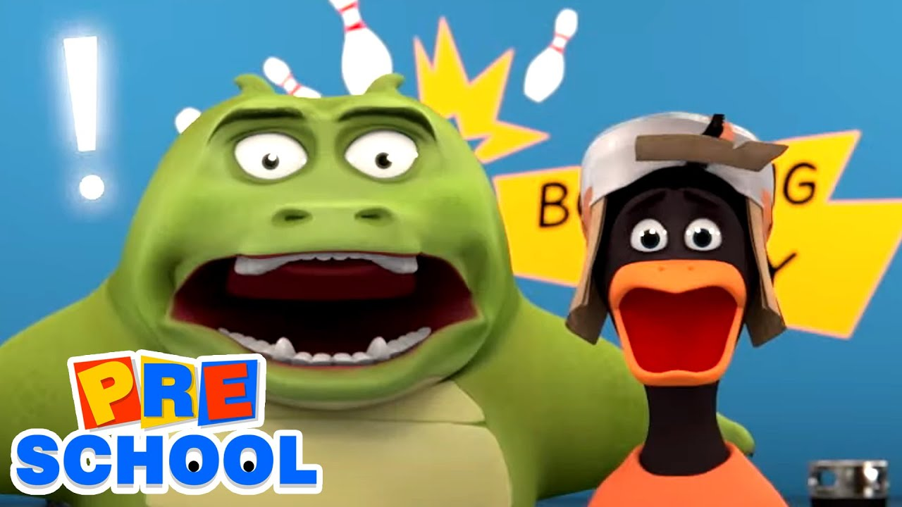 Gob and Friends - Bowling   Funny Cartoons For Kids   Bowling Challenge Fun   Children Videos