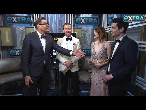 Ryan Gosling, Emma Stone & Damien Chazelle on 'La La Land's' Golden Globes Wins