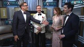 Ryan Gosling, Emma Stone & Damien Chazelle on 'La La Land's' Golden Globes Wins