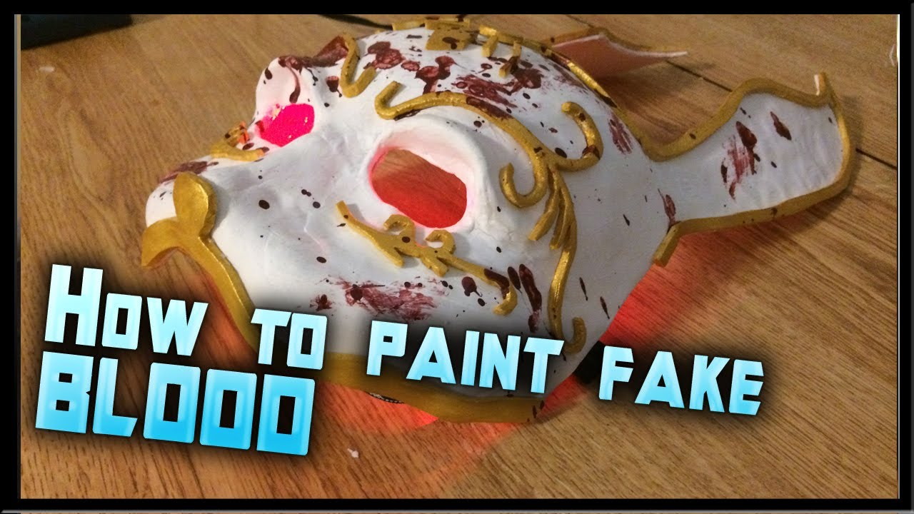 How To Make Fake Blood How To Blood Splatter A Mask