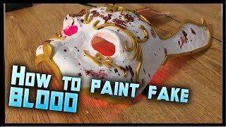How to Make Fake Blood: How to Blood Splatter a Mask Tutorial Mask.