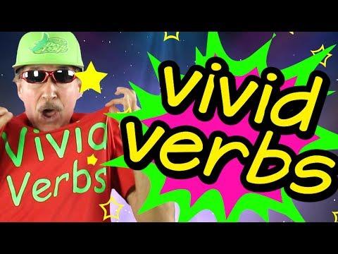 Vivid Verbs | Reading & Writing Song for Kids | Verb Song | Jack Hartmann