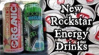 Rockstar Strawberry Organic & Mixed Mojito Energy Drink Review - CarBS