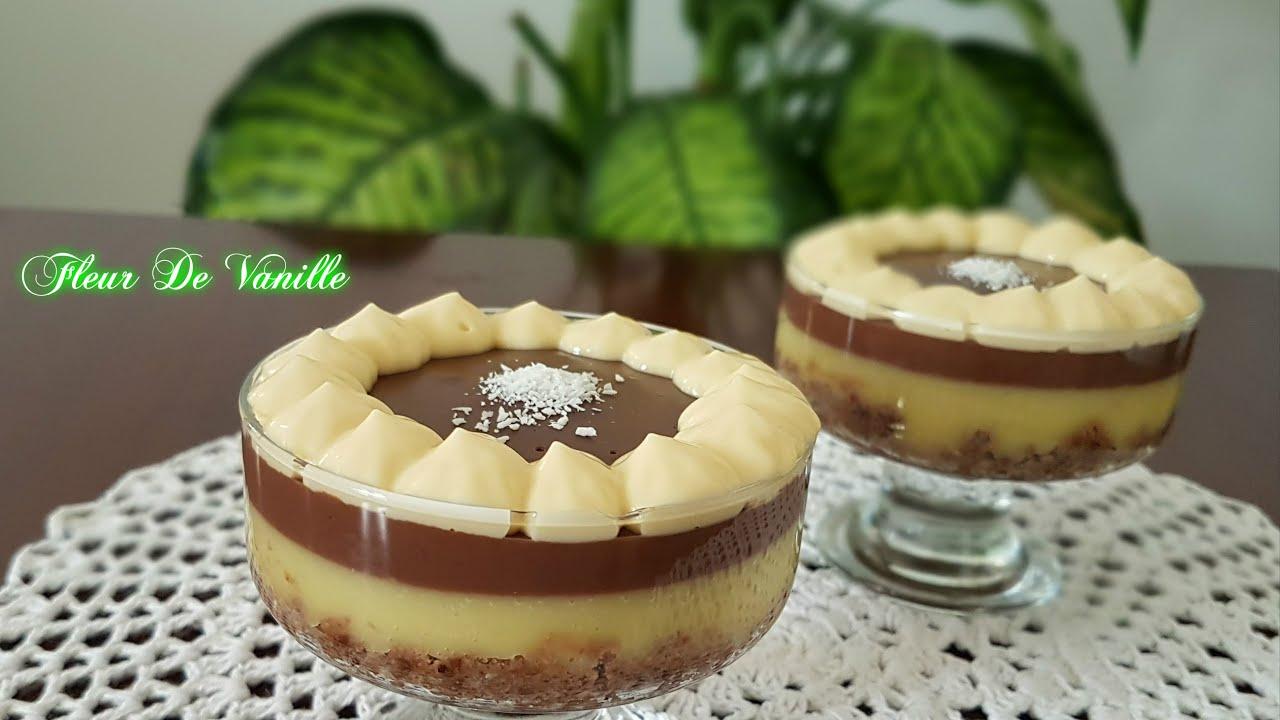 cr me dessert vanille chocolat vanilla chocolate cream. Black Bedroom Furniture Sets. Home Design Ideas