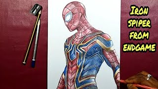 Drawing iron spider | Avengers endgame