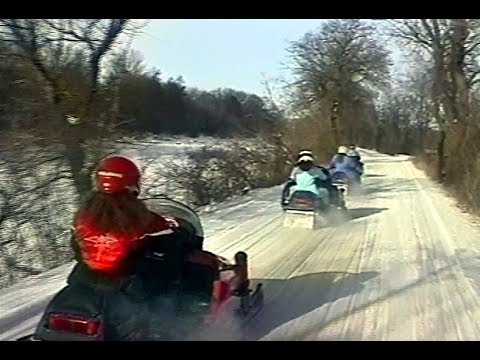 Snowmobiling on the I & M Canel 2007