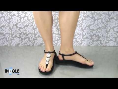 Vionic Orthaheel Lizbeth Black Orthotic Sandals @TheInsoleStore.com