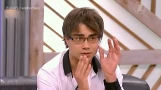 "Alexander Rybak in ""Pust' govoryat"" talk show (Russia).08.11.12"