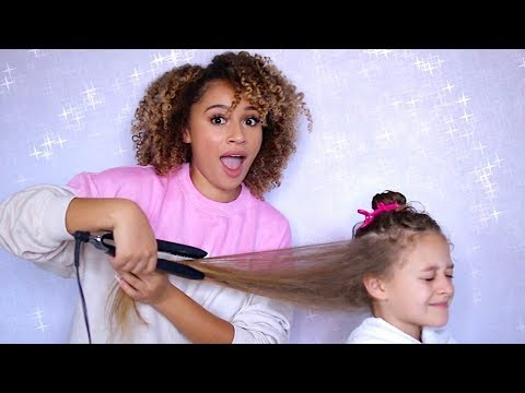 Straightening Her Hair for the FIRST TIME! thumbnail