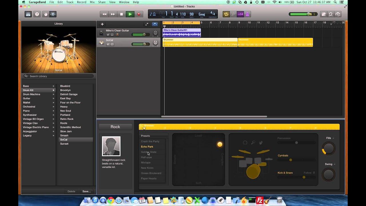 garageband drummer tutorial youtube rh youtube com GarageBand iPhone GarageBand iPhone