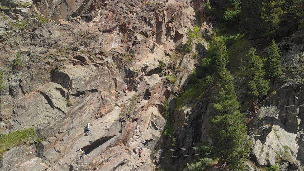 Klettersteig Zirbenwald : Klettersteig schnupperkurs obergurgl hochgurgl youtube