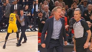 Download Kevin Durant Saves Refs From Steve Kerr Who Wanna Fight After Getting Furious Then Gets Ejected! Mp3 and Videos