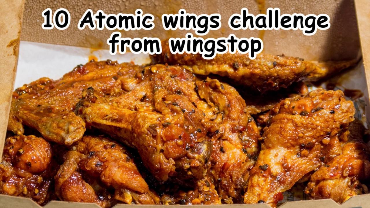 Wingstop 10 Atomic Wings Challenge Youtube