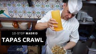 Madrid Tapas Crawl (10 stops!)