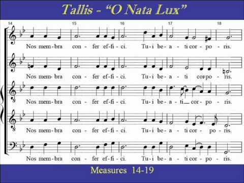 Tallis-O Nata Lux-Soprano-Score.wmv