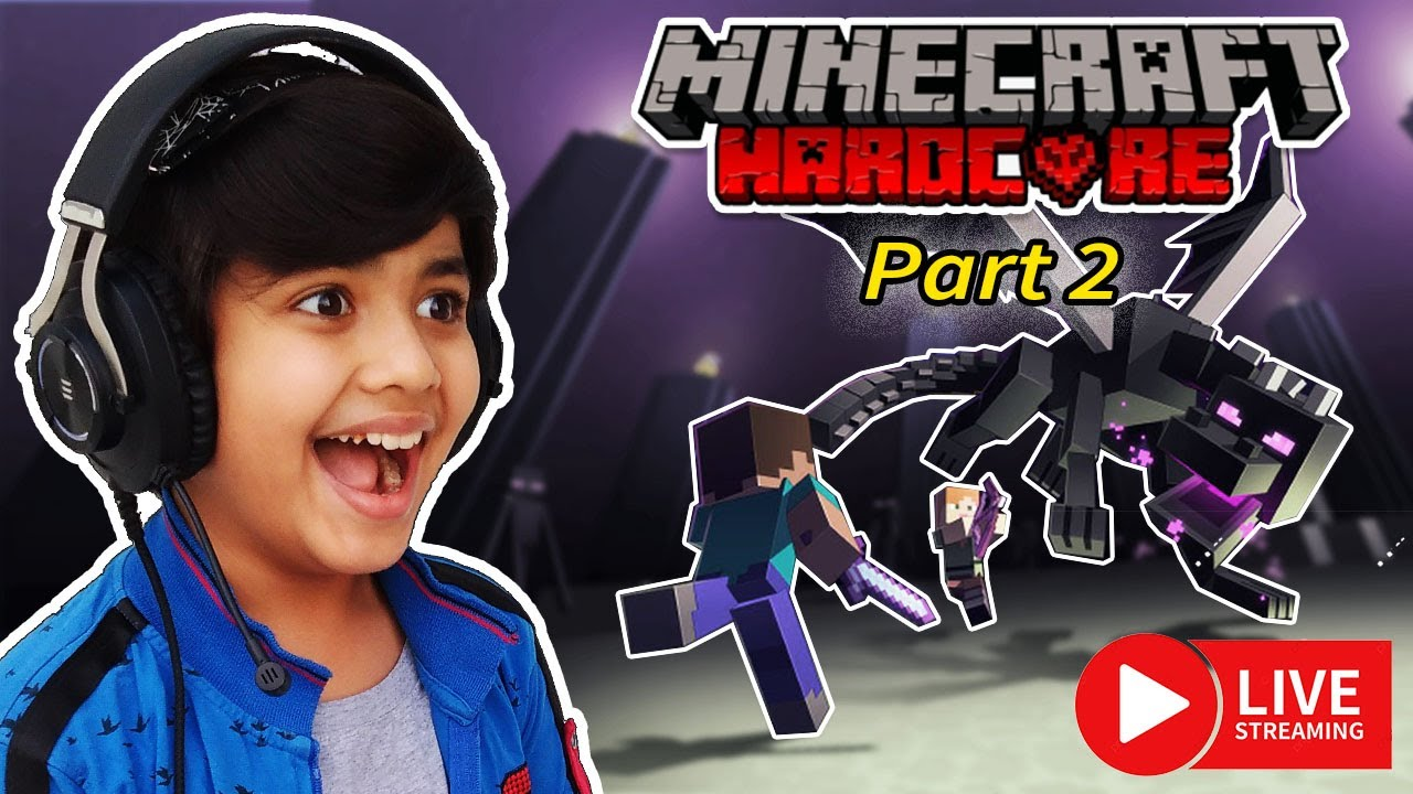 Final Battle with Ender Dragon Part 2 | Minecraft Hardcore Live in Hindi