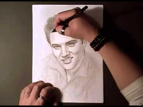 how to draw 10 elvis presley youtube