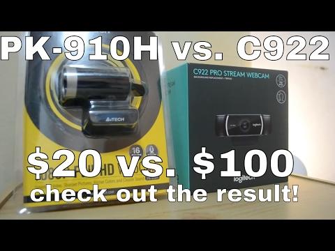 A4tech PK-910h vs Logitech C922