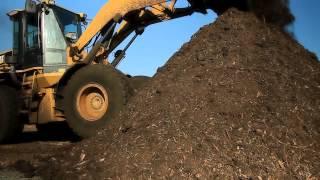 800 pk schredder op composteerterrein