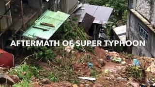 Typhoon Ompong (Mangkhut) in Baguio, Landslide, Benguet Philippines 2018