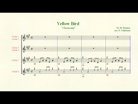 "Chamber Music #46  ""Yellow Bird"" (Choucoune) by M. M. Monton. Classical Guitar Pedagogy"
