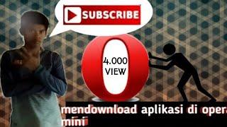 Gambar cover cara-cara download apk di opera mini