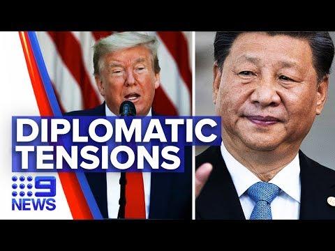 Coronavirus: Trump threatens relationship with China   Nine News Australia