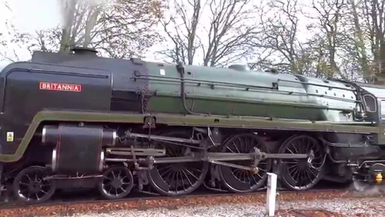 BR Britannia Class 7MT 4-6-0 no 70000 Britannia at Dawlish, Paignton &  Goodrington