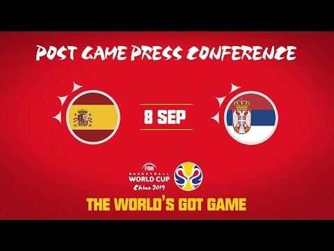 Spain v Serbia - Press Conference - FIBA Basketball World Cup
