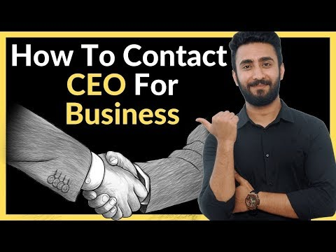 How To Contact CEO For Business thumbnail