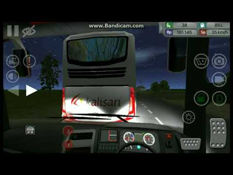 Bus ALS Nempel bokong Bus Kalisari di Rute Jakarta - Semarang