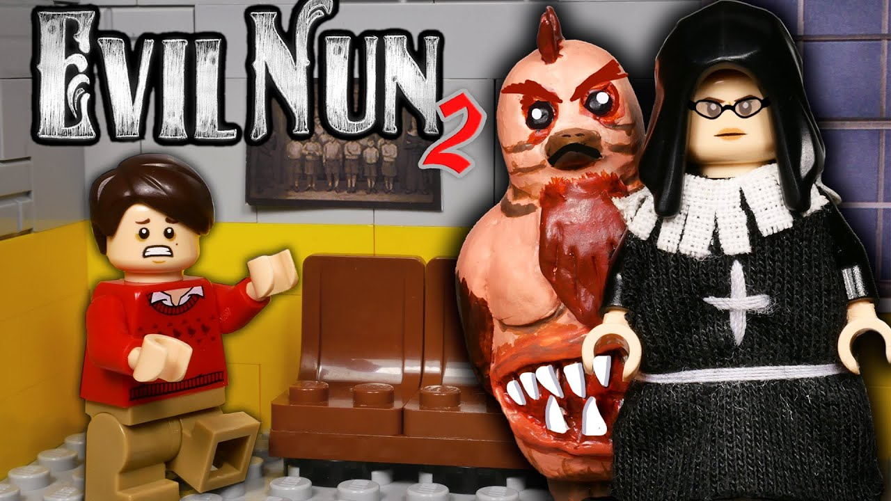 LEGO Мультфильм Evil Nun 2 - Часть 1 / LEGO Stop Motion, Animation