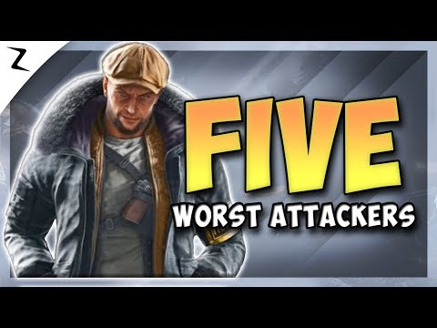 5 Worst Attacking Operators - Year 4 - Rainbow Six Siege