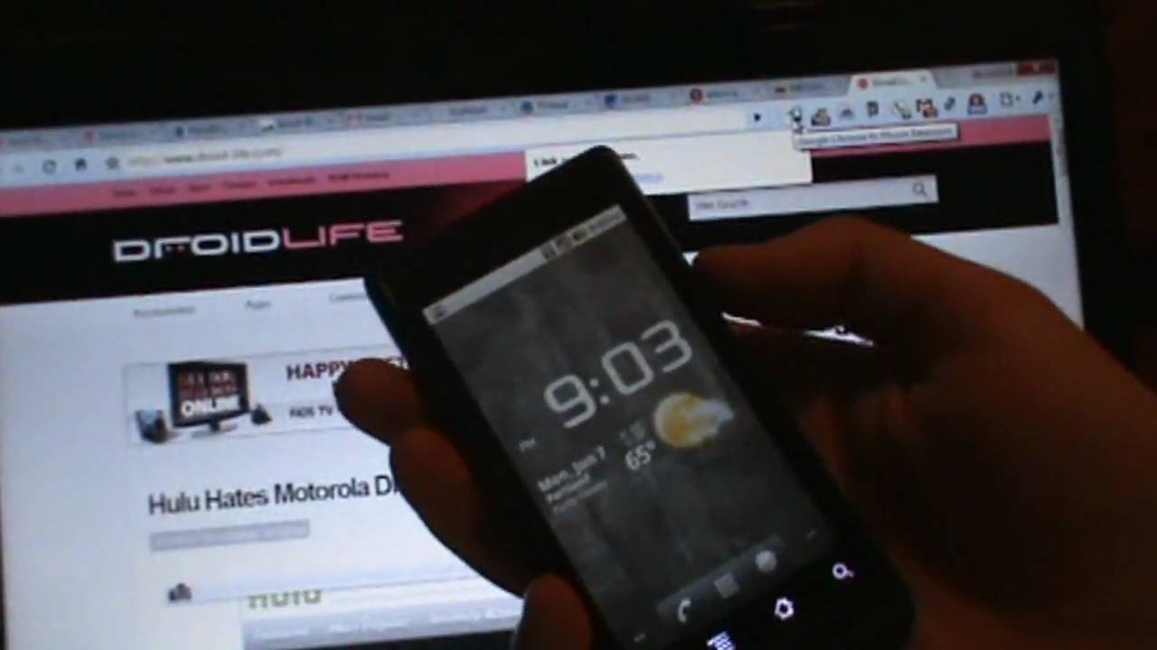 First Look: Chrome to Phone on a Motorola Droid