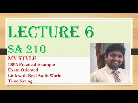 SA 210| Lecture 6| SA 210 AGREEING THE TERMS OF AUDIT ENGAGEMENT