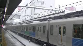 西武鉄道30105F 急行本川越行 雪の所沢
