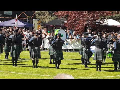The Owl Town Pipe & Drum Band bei der Grade 4 Competition in Peine 2018