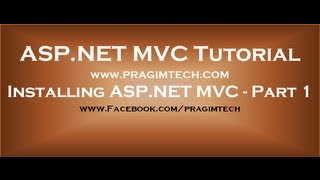 Installing aspnet mvc - Part 1
